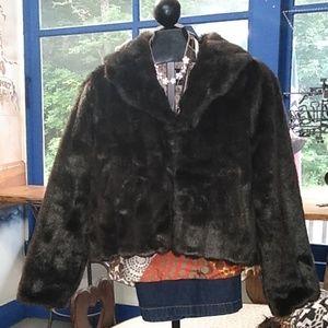L E.I. faux fur jacket XL